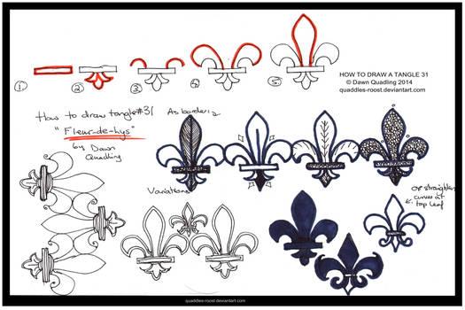 How to Tangle 31 Fleur-de-Lys quaddles-roost
