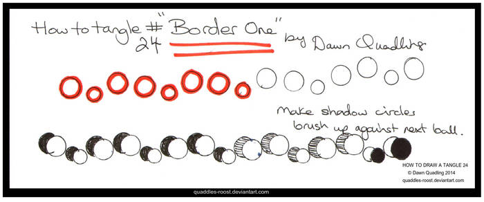 How to Tangle 24 Border One quaddles-roost