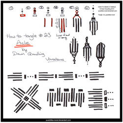 How to Draw Tangle 23 Acle quaddles-roost