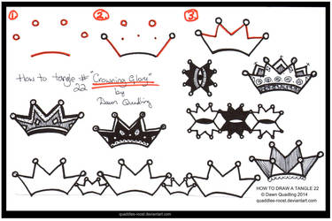 How Tangle 22  Crowning Glory quaddles-roost