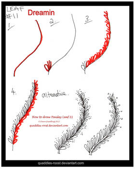 How to Draw Leaf 11 Dreamin quaddles-roost