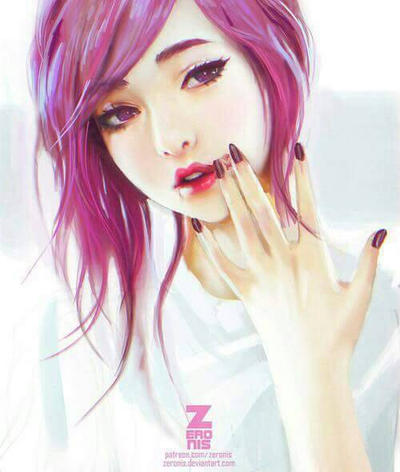 Korean girl with pink hair by ollison on deviantart korean girl with pink hair by ollison voltagebd Images