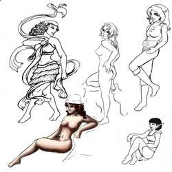 Elfquest sketchdump by Swevenzre