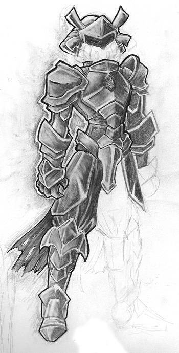 how to draw weapons and armor
