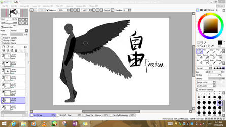 Random Bird Man - WIP by Makerra-chan