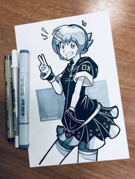 Ink + Copic Aiko
