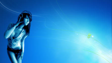 Windows 7 girl headphones 1920x1080 by svacha