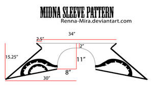 Midna Sleeve Pattern w/Decals by Renna-Mira