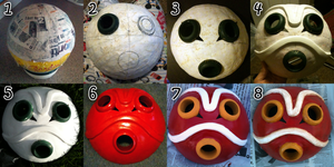 San's Mask-- Step by Step/Tutorial