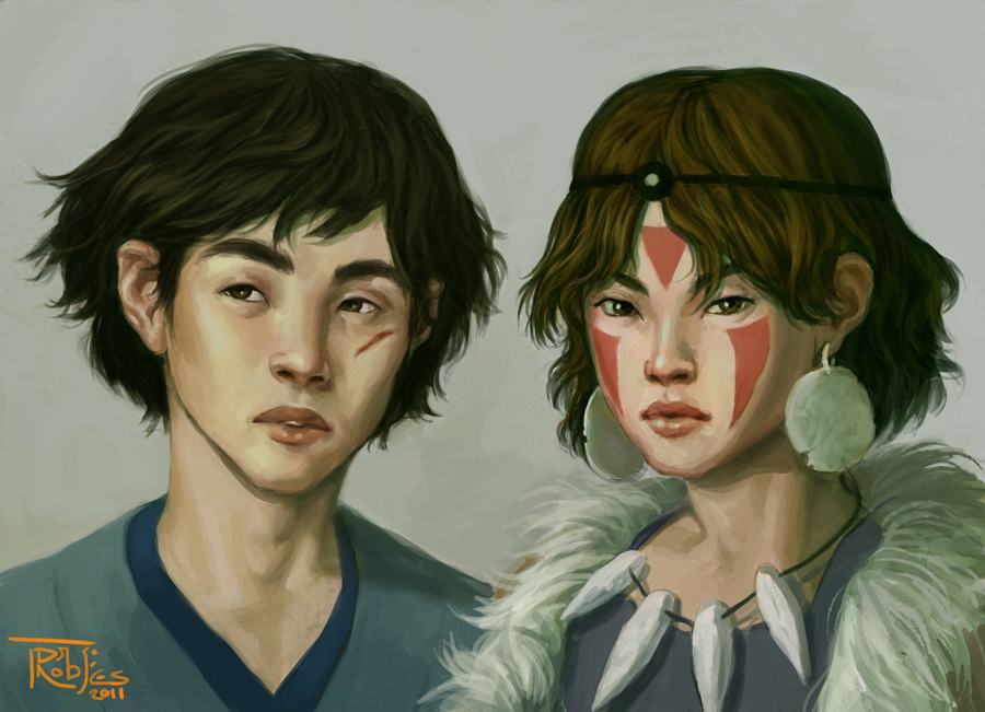 Ashitaka And San By Nickroblesart On Deviantart