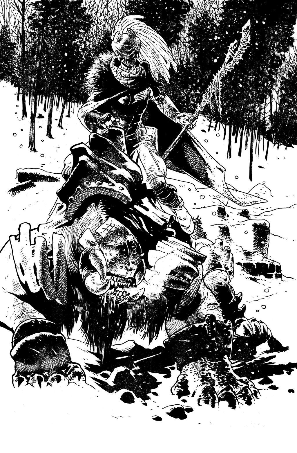 The pale rider splash Birthright #3 by andreibressan