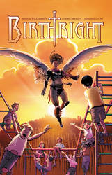 Birthright #8 cover is all about birth!