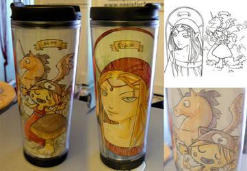 Starbucks Tumbler - 2 elves by YennaEddlinson