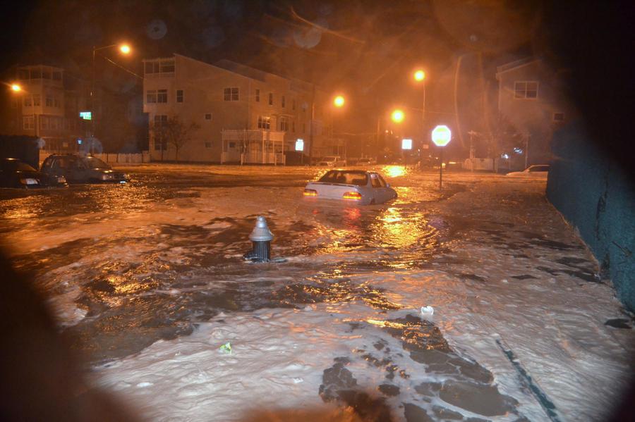 Hours before Sandy hit in Rockaway Beach NY by ArtieWallace