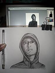 sketching myself..