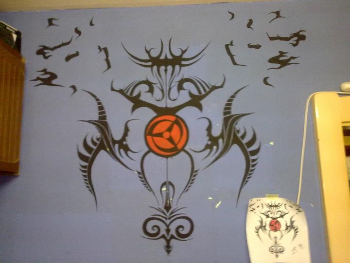 Mangekyo Sharingan Tattoo On Wall By TikaZ94 On DeviantArt