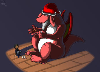 Christmas Dragon by Pennaz91
