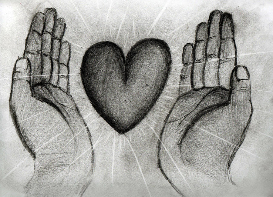 Pictures Of Pencil Drawings Of Hands Making A Heart Rock Cafe