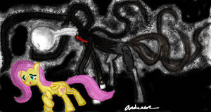 The Slender Pony and Fluttershy