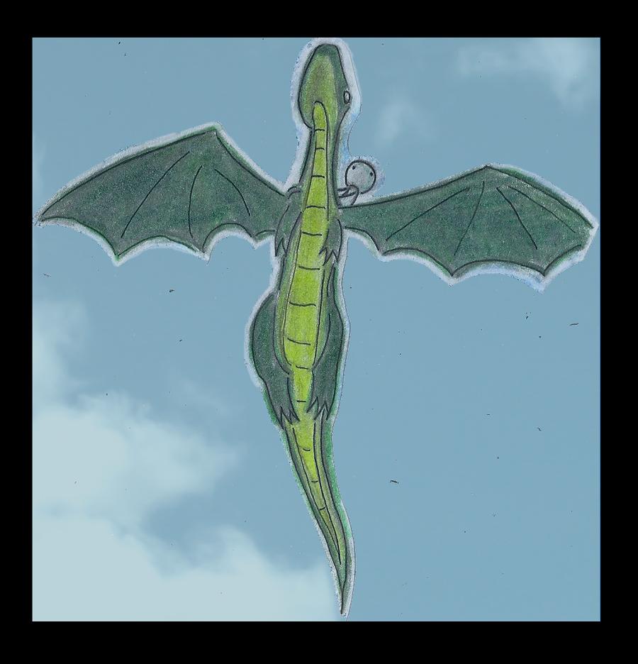 Xzyrandom: Dragon Flying by zxcvsaw