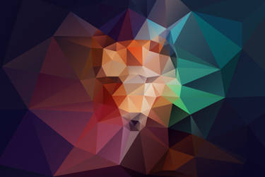 Abstract Fox polygonal design by verniannguyen