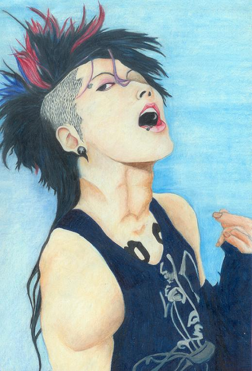 Rainbow Hair Miyavi By Iwakami On Deviantart