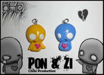 Pon and Zi pendants