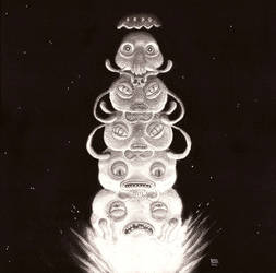 space invaders totem by German-Orozco