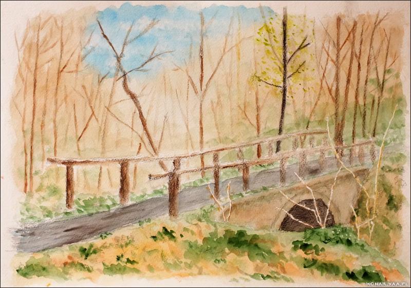 Forest bridge by Komar4