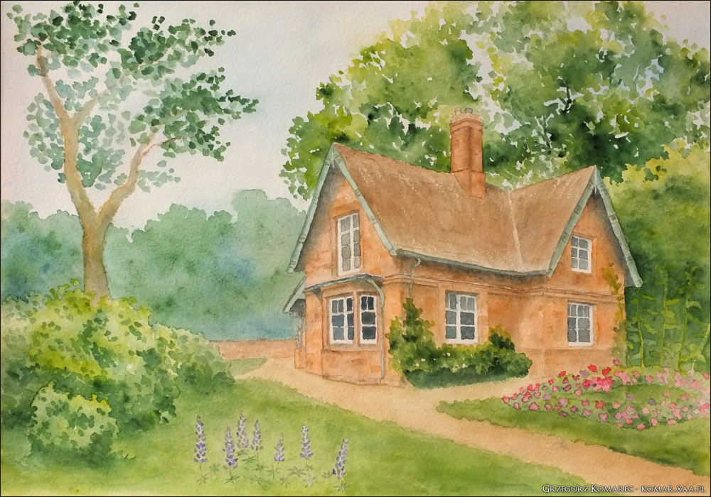 A house among green by Komar4
