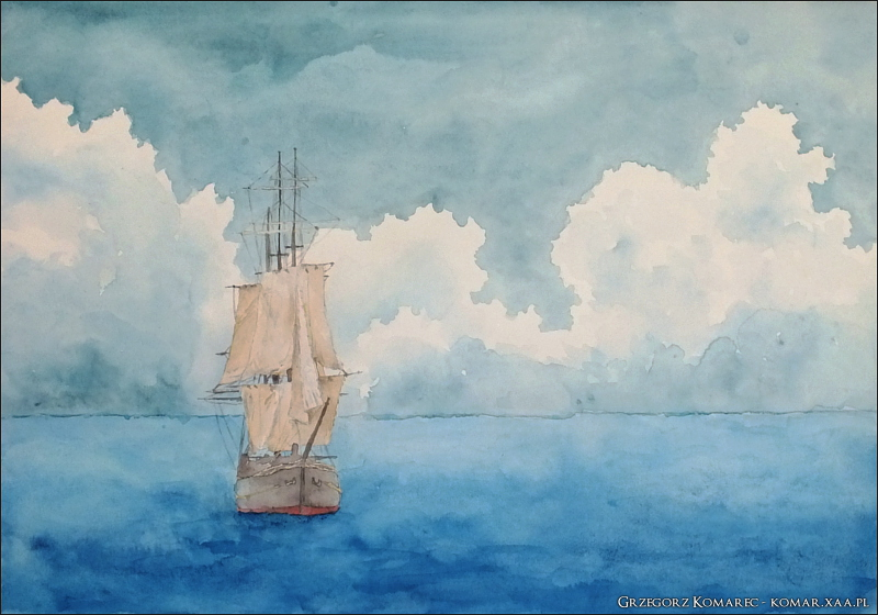 Three masts by Komar4