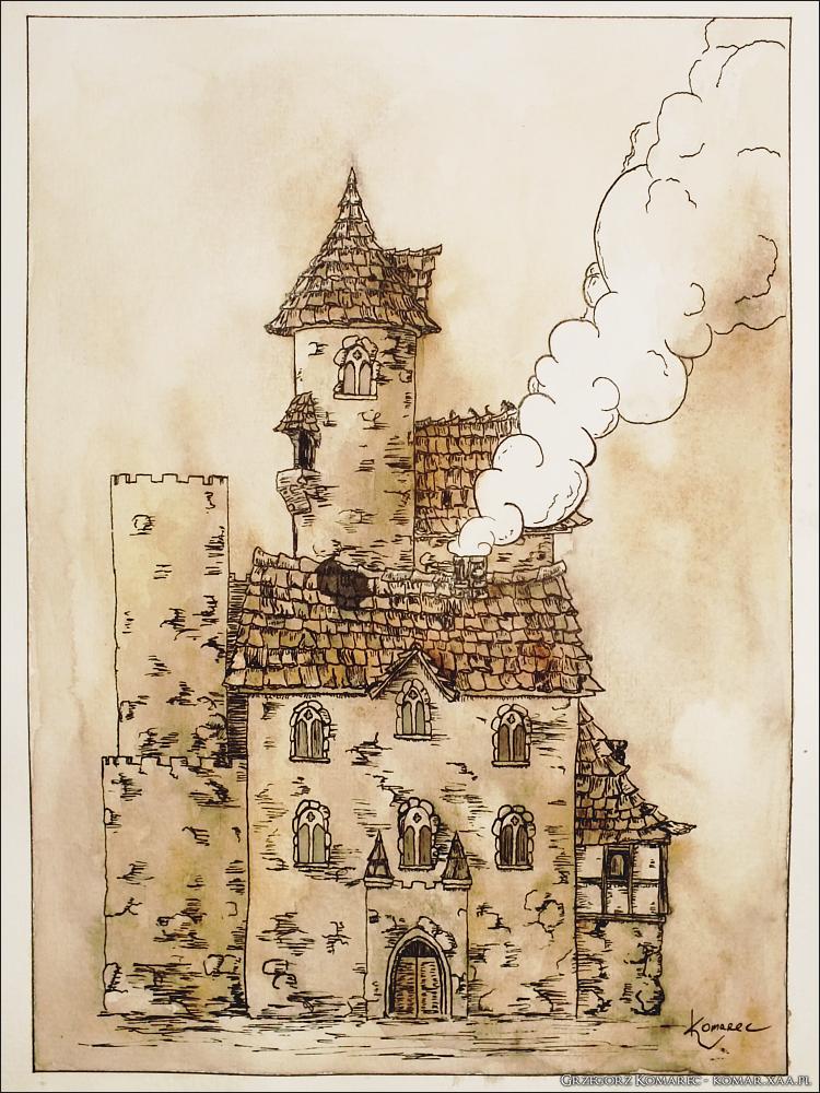 Ink building by Komar4