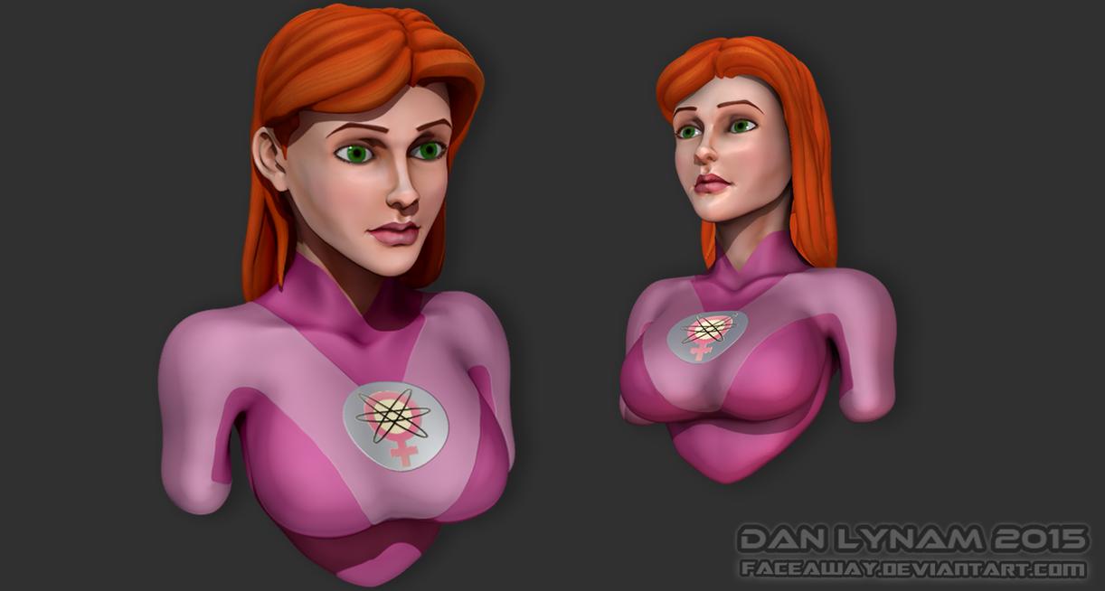 Atom Eve 3D Sculpt by faceaway