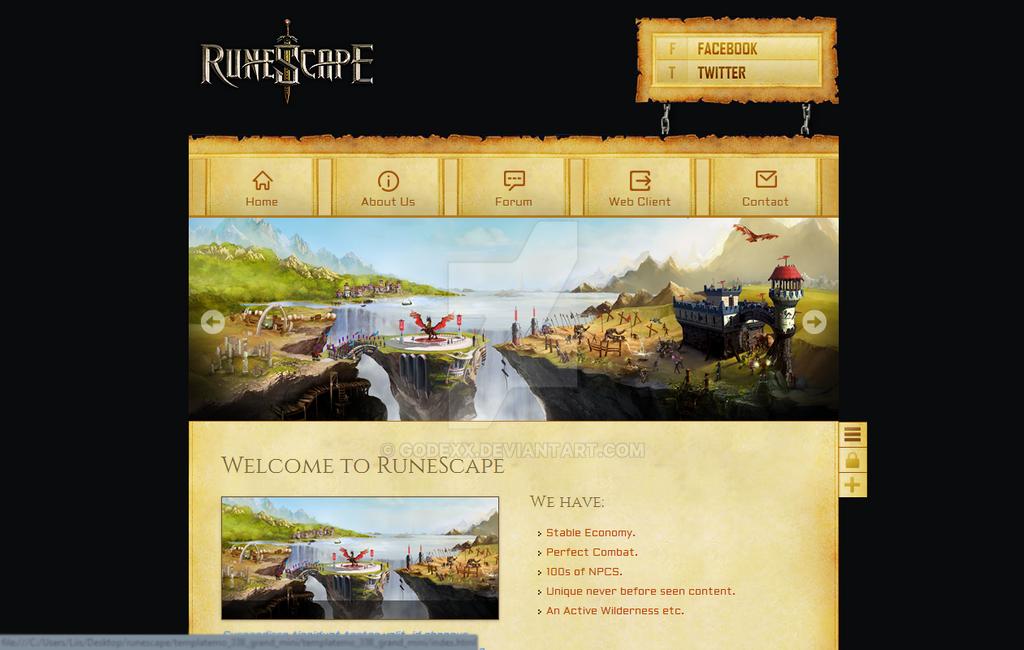 Runescape private server website template.