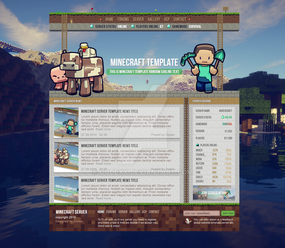NEW Minecraft Server Template by Godexx on DeviantArt