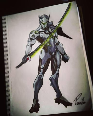 Overwatch Genji! by artANIMEGR