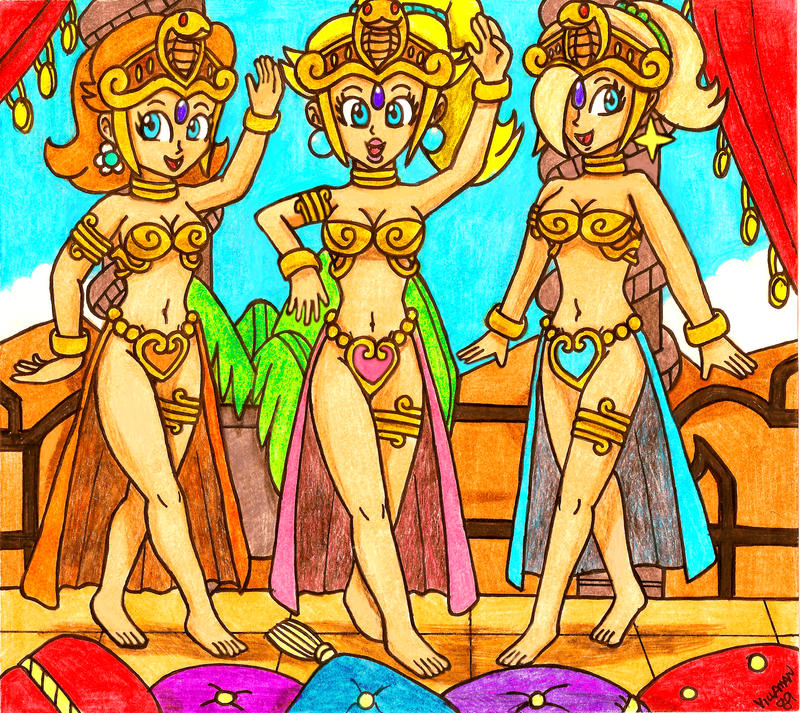 The Princesses of Tan Line Island by Villaman89