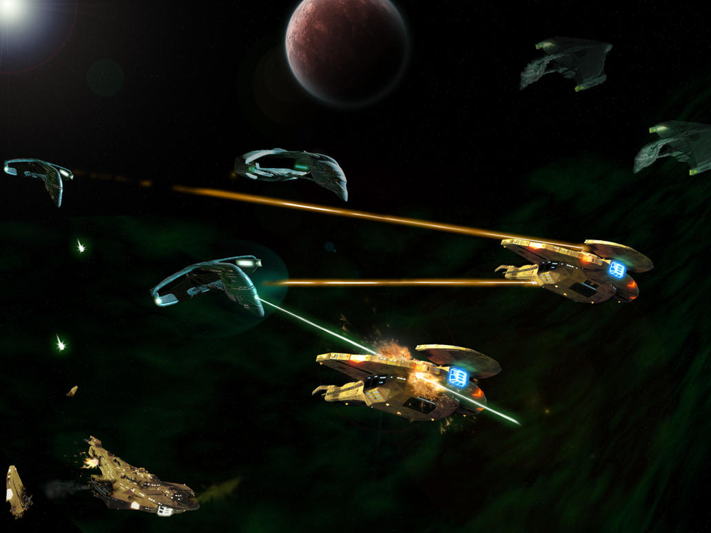 Romulan Attack by samuelkowal906