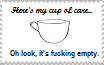 Cup of Care stamp by PeanutbutterJelle