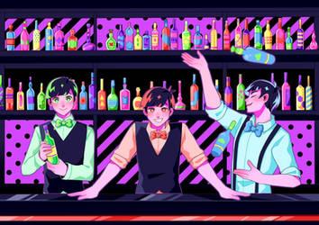 Osomatsu San: Bartenders by manisaurus