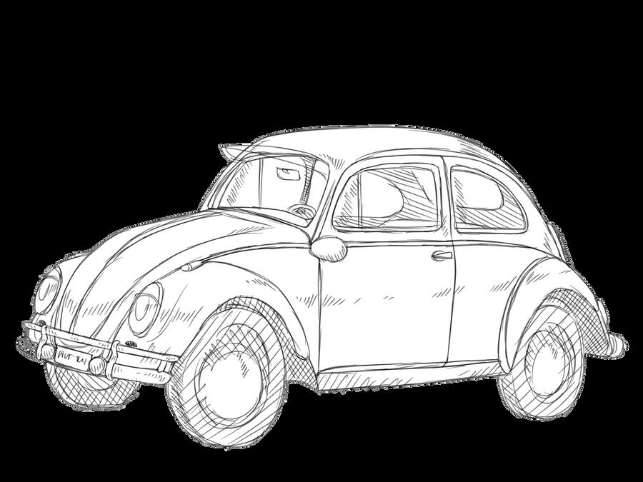 Line Drawing Vw Beetle : Vw beetle drawing