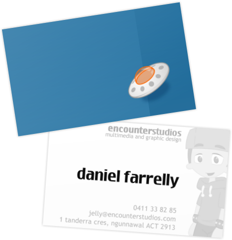 EncounterStudios Business Card by jellybeansoup