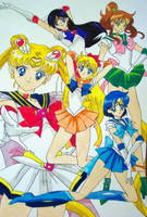 Sailor Scouts -Group Photo- by yamixkaiba