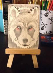 My wolf design on a atc