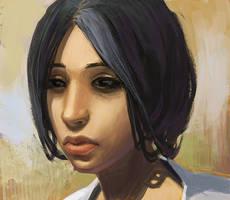 White Streak Girl by MaxOstap