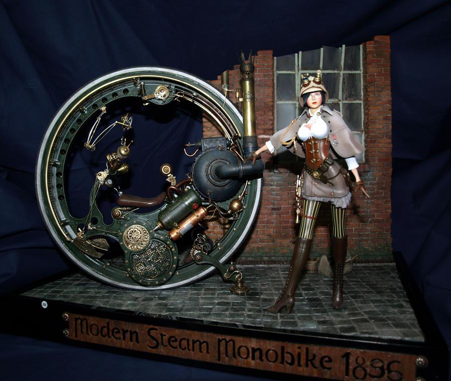 Modern Steam Monobike 1896 by stefano1896