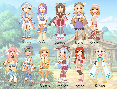 Rune Factory 3 Doll Collection by cutepiku