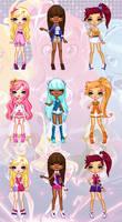 Lolirock - Lolirock Girls Pixel Dolls