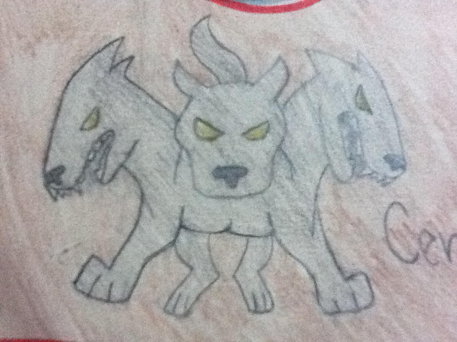 Cerberus~The Three Headed Dog by ILoveMattie7 on DeviantArtThree Headed Animal Drawing