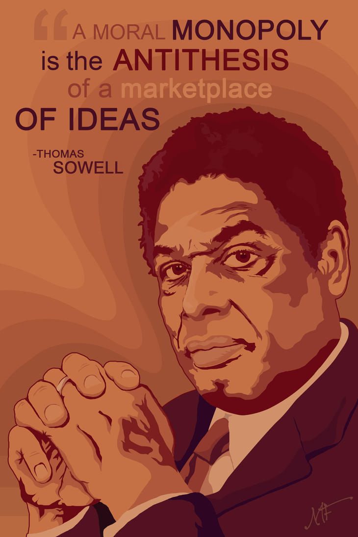 browsing vector on thomas sowell by mike dom
